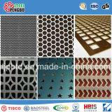 Feuille décortiquée en aluminium et en acier inoxydable décoratif