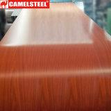 Цвет покрыл стальное покрытие катушки деревянное/красивейшее деревянное катушка зерна Prepainted стальная