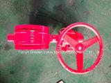 Ggg40/Ggg50/Wcb/ANSI/ASME/Pn/GB Nut-Typ Drosselventil mit Getriebe funktionieren