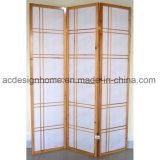 Sezioni semplici giapponesi cinesi artistiche di stile 3 non tessute/schermo piegante di legno dello Shoji
