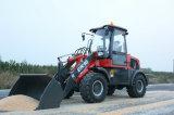 Marca Everun certificada CE mini cargadora de ruedas articuladas 1.6 ton.