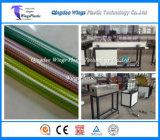 Chaîne de production tressée de pipe de PVC de jardin de boyau de fabrication de fibre en plastique de la machine/PVC