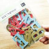 handgemachte gestempelschnittene Funkeln-Karton-Papierfertigkeit-Aufkleber des Alphabet-3D/des Zeichens