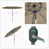 Hz-Um140 10FT (3m) Crank parapluie avec parasol de plein air d'inclinaison