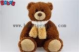 Couleur Chocolat de gros ours en peluche avec une écharpe en provenance de Chine Factroy fournisseur