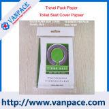 Servicio de OEM de pulpa de madera virgen 1/16 el inodoro de plegado de papel de cubierta de 10 PC/ Pack