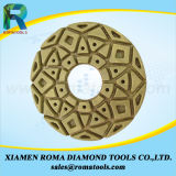 Romatools 다이아몬드 닦는 패드는 사용 2000#를 적셨다