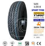 Neumático 4.00-8 de Tok Tok del neumático del policía motorizado del neumático tres del triciclo del modelo de Mrf del neumático de la motocicleta