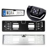 4개의 LED 가벼운 유럽 차 자동 번호판 프레임 자동 반전 뒷 전망 백업 사진기 야간 시계