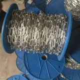 Catena a maglia saldata galvanizzata della catena a maglia DIN766 bruscamente