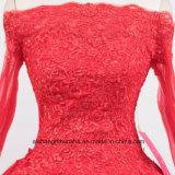 Le lacet Appliques la longue robe de bal d'étudiants de hors fonction-Le-Épaule de robe de soirée de chemises