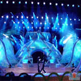 Openlucht leiden tonen het Vierkante Aluminium van de Spreker van de Doos de Tent van de Bundel van de Verlichting van het Stadium van de Vertoning assembleert