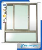 Scivolamento della finestra di alluminio con doppio vetro lustrato