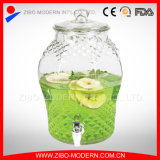 10L立場および栓が付いているガラス飲み物ジュースの飲料ディスペンサー