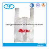 Sac à provisions en plastique coloré de T-shirt de prix usine