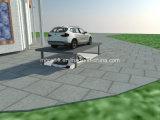 車の見えない地下駐車場車の上昇のプラットホームはとのデザインを切る