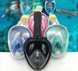 Navigare usando una presa d'aria occhiali di protezione Pieno-Asciutti completamente coperti del silicone per la mascherina antiappannante ed antiappannante di immersione subacquea della strumentazione