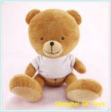 Cloth Plush Teddy Bear를 가진 포옹 Teddy Bear