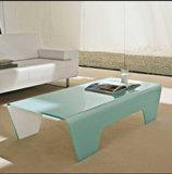 Tavolino da salotto di vetro moderno Tb-S126