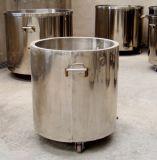 El tanque de almacenaje movible del acero inoxidable con las ruedas