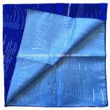Chinesisches Fabrik Soem-Erzeugnis passte Firmenzeichen gedruckte blauer Satingrosse HauptBandanas an
