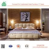 좋은 품질 유행 가죽 나무로 되는 2인용 침대 디자인