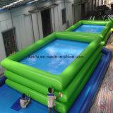 Piscina inflable para el parque de atracciones del agua