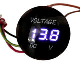 Waterproof Round cd. 12V-24V LED Because DIGITAL Display Voltmeter Meter Gauge Volt