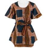 Los diseños de vestuario de cera de África Dashiki algodón blusa de mujer ropa