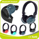 Auscultadores estéreo sem fios promocionais suporte de headset Bluetooth FM cartão de memória