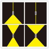 Luz clara da parede do diodo emissor de luz 2X3w do diodo emissor de luz de Updown do projeto novo em IP65