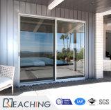 부엌을%s UPVC 미닫이 문 석쇠 디자인 PVC 미닫이 문