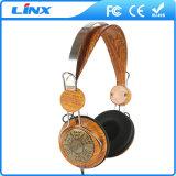 Hölzerne Kopfhörer-Fabrik-hölzerner Kopfhörer mit dem kundenspezifischen Firmenzeichen erhältlich