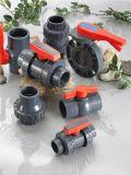 Soupapes d'ère, robinet à tournant sphérique simple de syndicats de PVC Pn10 (F1970), NSF-Picowatt et UPC