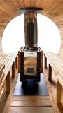 La más nueva sauna portable al aire libre modificada para requisitos particulares de la sauna del barril para el invierno