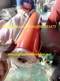 Rullo di gomma rosso della stuoia della gomma pura naturale di Nr