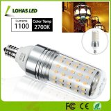 Ampola 2017 do diodo emissor de luz T10 da ampola do diodo emissor de luz E12 do branco morno equivalente do poder superior 12W 100W (2700K)