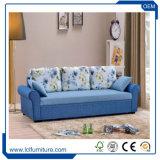 ホーム家具の骨董品ファブリック青いカラー3 Seaterの折るソファーベッド