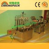 El etiquetado automático de líquido del vaso de la máquina de llenado de la máquina de llenado de pasta de equipos de embalaje