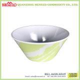La forme ronde conçoivent le bol en fonction du client de potage de mélamine d'impression