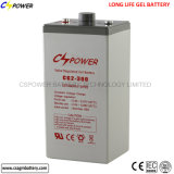 China-Sonnenenergie-Batterie-tiefe Schleife-Gel-Batterie 2V 300ah