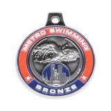 Punch-out promotionnels personnalisés 3D Relief en plaqué or antique bronze 50mm rond Die a frappé la médaille de métal blanc