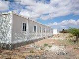 El panel de emparedado aislado de las lanas de roca de la casa prefabricada/del fuego móvil de la casa prueba la casa modular
