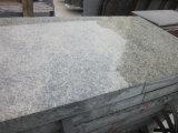 Lastra verde del granito della Cina di stile 2 di spessore popolare di cm /3cm tagliata alle mattonelle