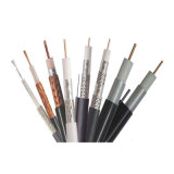 Quad-Shield cable coaxial RG6 para cable CATV 18AWG CCS el 85% de cobertura