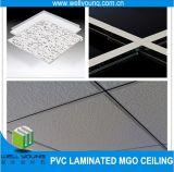 Ningún azulejo falso revestido del techo del MGO del PVC de la decoración del polvo