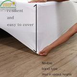Precio de blanco Jersey ajustada con el protector impermeable completo del colchón de la barrera impermeable reservada