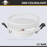 Gran cantidad de lúmenes 2835 SMD LED redonda de la luz de panel de vidrio
