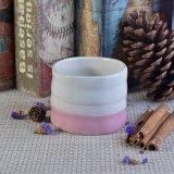 Mão - cor-de-rosa feita sob encomenda feita que vitrifica frascos cerâmicos da vela com tampas