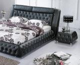 Base A853# del cuero de los muebles del dormitorio